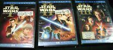 STAR WARS PREQUEL 6 DISC SET 1 2 3 FULLSCREEN DVD'S BRAND NEW USA REGION 1 RARE