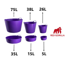 PURPLE Gorilla Tub Trug Flexible Storage Carrying Bucket Feeding Water Garden
