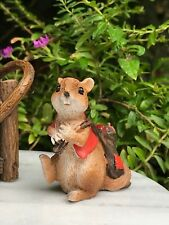 Miniature Dollhouse FAIRY GARDEN ~ Fall Harvest HALLOWEEN Mouse with Sack ~ NEW