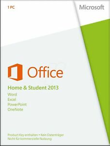 Microsoft Office Home and Student 2013 Key Card for 1 PC  (IL/PL1-3443-HMSTDN...