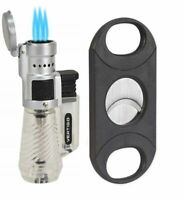 Vertigo by Lotus Cyclone 3 Torch Lighter and Sigara 80R Cigar Cutter