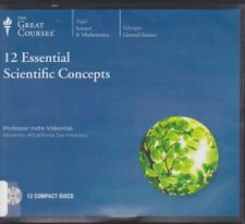 12 ESSENTIAL SCIENTIFIC CONCEPTS by THE GREAT COURSES CD's ~24 lectures +12 CD's