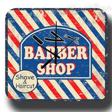 Barber SHOP Shave & taglio di capelli Metallo Retrò Vintage Tin Sign Stile Orologio da parete
