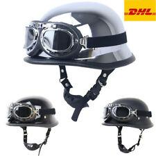 Motorradhelm Retro Oldtimer Rollerhelm Motorrad Halbschalen Helm & Schutzbrille