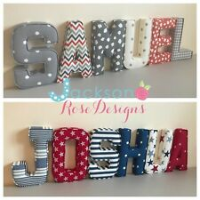 Fabric Padded Letters Wall Art Handmade Nursery name, personalised, girl, boy