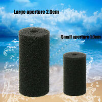 2/10x Fish Tank Black Filter Foam Pas Bio-Sponge Reusable Aquarium Filter Sponge