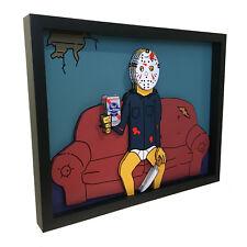 Friday the 13th Jason Voorhees Pabst Blue Ribbon 3D Art Horror Print Artwork