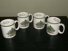 Set of 4 Spode Christmas Tree Mugs Coffee Tea Cups