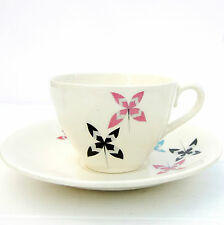 Vintage Retro 1950s Mid Century Grindley Tea Cup Saucer