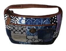 MINT Coach Indigo Denim Blue Patchwork Ergo XL Hobo Handbag Purse Bag NICE!