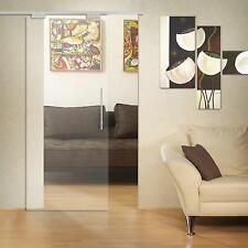 Glass Sliding Door  Transparent Glass 8 mm (940 x 2050 ) with Pull Bar T handles