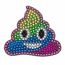 Rhinestone Sticker Decal Rainbow Poop Smiley Face Emogi 2 in bling Stickerbeans