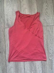 ELLE Pink Vest Vintage Size M