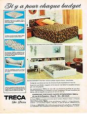 PUBLICITE ADVERTISING 104  1972  TRECA  lits matelas