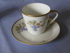 Hutschenreuther Noblesse Grapes Cup & Saucer Pasco Germany Shipping Special