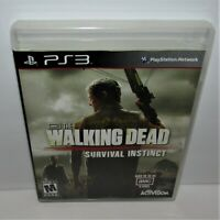 The Walking Dead: Survival Instinct (Sony PlayStation 3, 2013) Complete