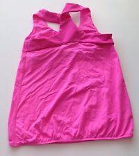 Girls Ivivva Lululemon Twisted Cross Tank Top Youth Girls Size 14 Hot Pink