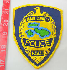 "Maui County Hawaii Police 5"" Cloth Patch Blue-Black Background"