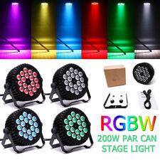 4X Stage Lighting 200W 18 Led Rgbw Dmx Par Can Lamp Party Disco Dj Lights Show