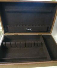 New listing Vintage Sterling silver Easterling Silverware Case Heavy Faux Leather Texture