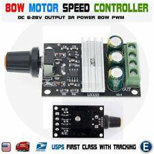 Dc 6v 28v 3a Pwm Motor Speed Variable Regulator Controller Switch 6v 9v 12v 24v