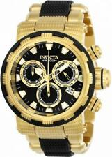 Invicta Specialty 23980 Men's Rond Black Gold Tone Chronograph Date Analog Watch