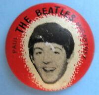 PAUL McCARTNEY BEATLES ORIGINAL 1964 PINBACK BUTTON #104