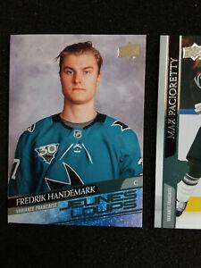 LOT 2 Fredrik Handemark JEUNES LOUPS Rookie 2020-21 Upper Deck Extended Series 3