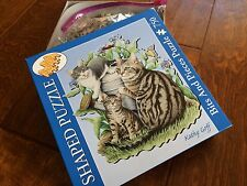 750 piece puzzle, shaped curved edges, bits and pieces, cat puzzle, 23.25 x 25