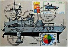 """Cartolina Marina - Cannoniera Aliscafo """"Sparviero"""" Stato Maggiore Marina - (Annu"""