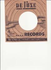 Deluxe Records- Original 1950's 45 R&B Record Company Sleeve