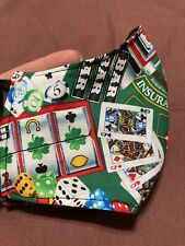 Handmade Facemask Reusable Washable Vegas Strip Casino Slots Cards Player Adult