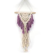 Tapestry Purple Handmade Tassel Tapestry Art Bohemian Woven Macrame Wall Hanging