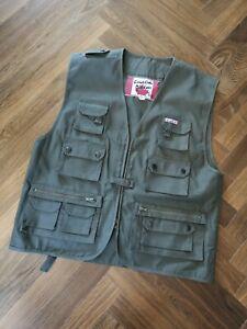 Herren Canadian Outdoor Jäger Weste Gr. L, grün, viele Taschen, wie NEU