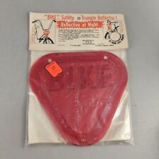 Vintage Bike Safety Triangle Reflector Reflective Red Rear Bicycle Accessory 70s