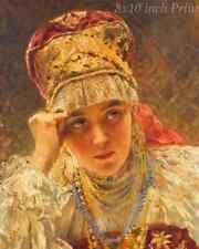 Romany Girl Russia 8x10 Print Picture 1657 Gypsy Woman by Konstantin Makovsky