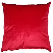 Opulence Velvet Filled Cushion Scarlet
