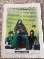 Soundgarden Rare 1992 Vintage Print Advertising Peavey Amps Chris Cornell
