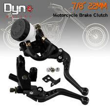 """7/8"""" 22mm Clutch Brake Levers Master Cylinder Reservoir For Suzuki Motorcycle"""