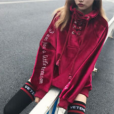 Woman BF Style Vintage Lolita Harajuku Coat Gothic velvet Pullover Loose Tops
