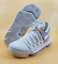90b912db436 Nike Zoom Kd10 GS White Chrome Pure Platinum Kevin Durant 918365-100 5