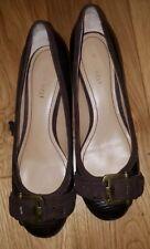 Shoes 7 Wide Nine West Brown<MJ3243