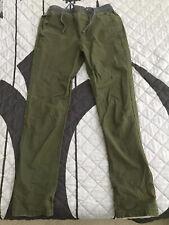 MERONA Men's Chino Olive Tapered Drawstring Pants Sz Small 32