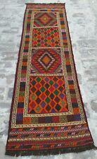 Afghan hazara kiiim Tapis Suzani Carpet Handmade TRIBAL KILIM 7'x2' pieds
