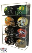 8 Mini Helmet DISPLAY CASE ACRYLIC WALL MOUNT FOOTBALL UV HOLDER GameDay Display