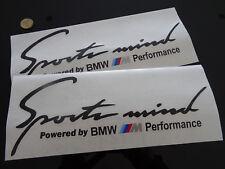 """2 X rendimiento deportivo mente BMW M lado Capó Calcomanías Pegatinas (12"""" 300 MM) Sport"""