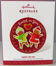 SWEET ON YOU Gingerbread Boy & Girl 2014 Hallmark Christmas Holiday Ornament NIB