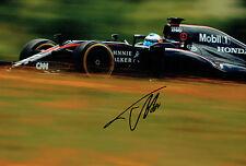 Fernando ALONSO Autograph SIGNED 12x8 Race Photo McLAREN AFTAL COA