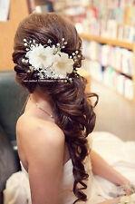 Braut Hochzeit Perlen Haarschmuck Haarblume Blüte Blume Schmuck Haargesteck NEU