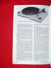"Roksan Radius & SOTA Comet turntables review ""Stereophile"" magazine 8/93"